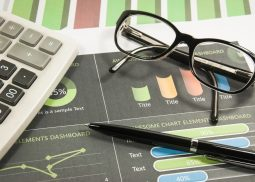 Business graph analysis and financial report. finance and banking concept.